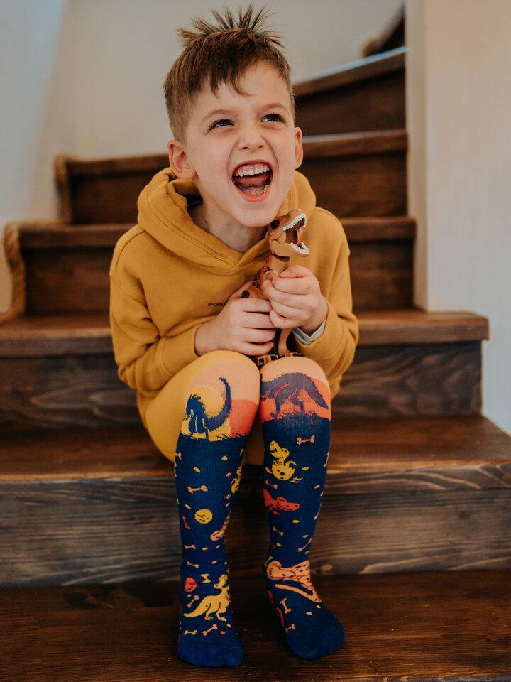Obrázok produktu Živahne otroške hlačne nogavice Svet dinozavrov