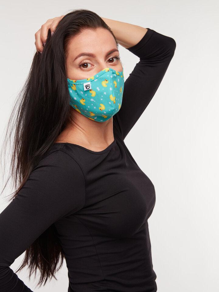 """Suchen Sie ein originelles und außergewöhliches Geschenk? überrascht den Beschenkten sicher Lustige antibakterielle Gesichtsmaske Enten - Größe """"Klein"""""""