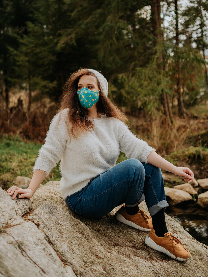 """für ein vollkommenes und originelles Outfit Lustige antibakterielle Gesichtsmaske Enten - Größe """"Klein"""""""