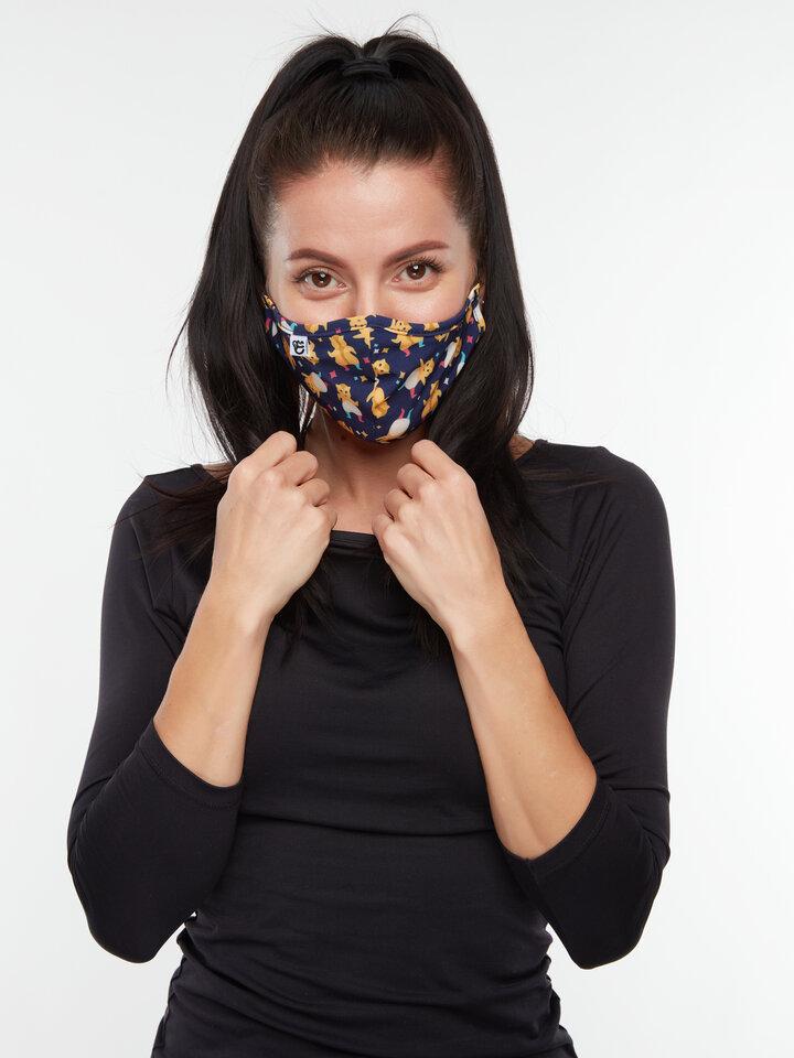 Lifestyle foto Masque facial antibactérien rigolo Hamsters en fête - Taille plus petite