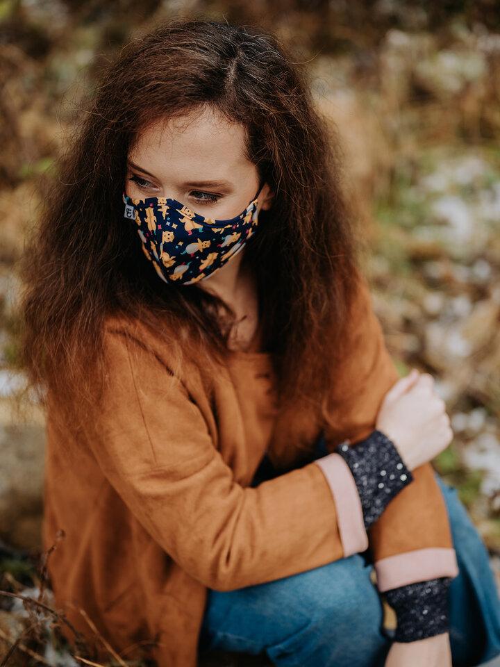 Výpredaj Masque facial antibactérien rigolo Hamsters en fête - Taille plus petite