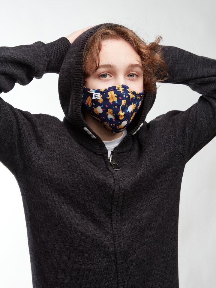Hľadáte originálny a nezvyčajný darček? Obdarovaného zaručene prekvapí Masque facial antibactérien rigolo Hamsters en fête - Taille plus petite