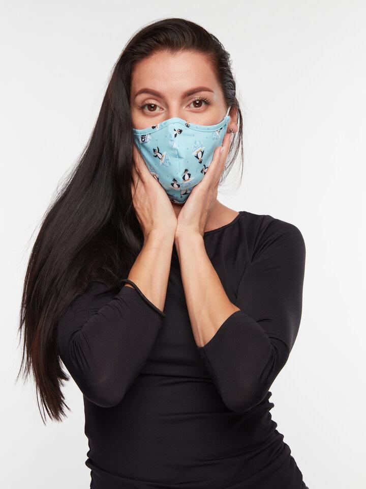 Výpredaj Masque facial antibactérien rigolo pour enfants Manchot joyeux
