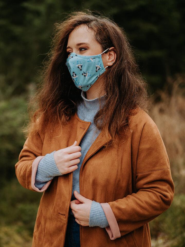 Potešte sa týmto kúskom Dedoles Masque facial antibactérien rigolo pour enfants Manchot joyeux