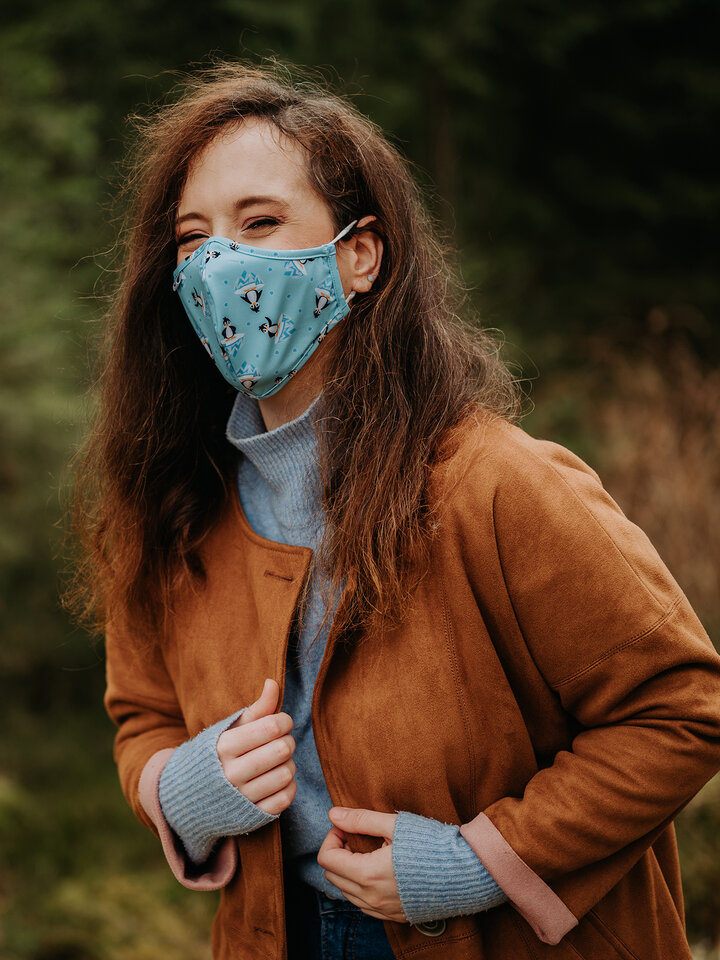 Zľava Masque facial antibactérien rigolo pour enfants Manchot joyeux