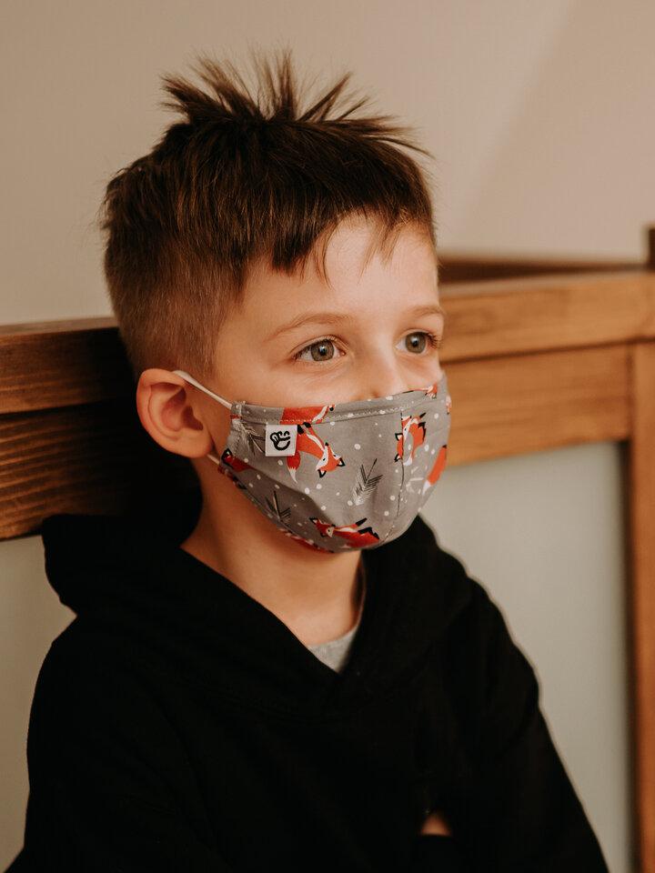 Pre dokonalý a originálny outfit Весела детска маска за лице Лисица