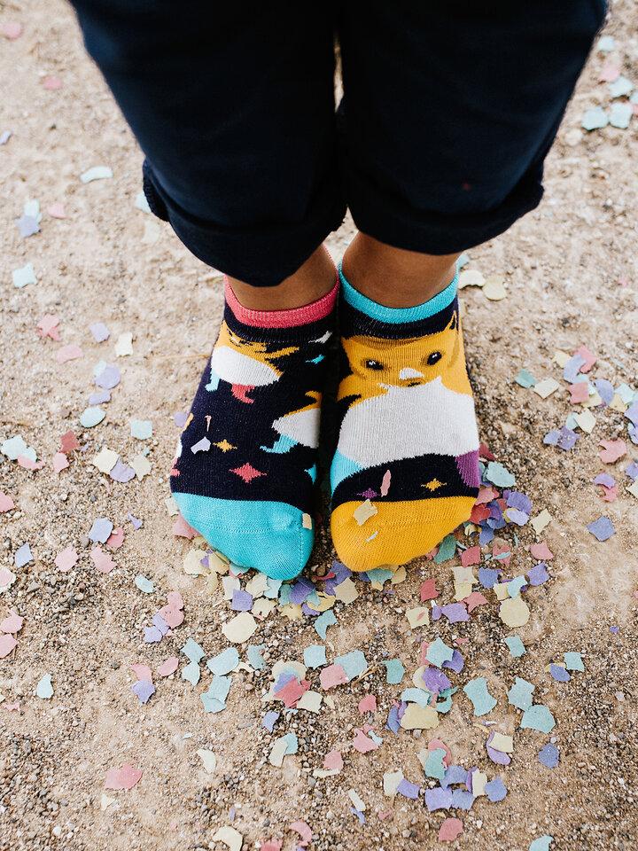 Pre dokonalý a originálny outfit Detské veselé členkové ponožky Párty škrečky