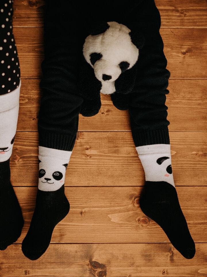Foto Vidám meleg gyerek zokni Boldog panda