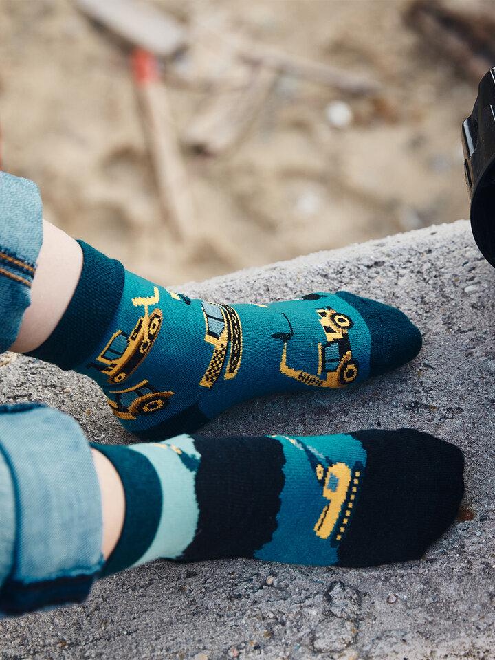 Foto Dětské veselé ponožky Bagr