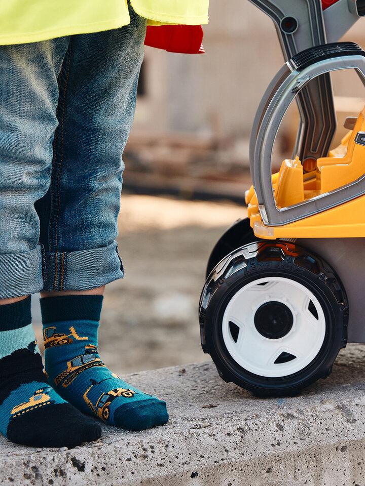 Výprodej Dětské veselé ponožky Bagr