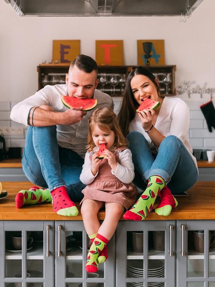 Pre dokonalý a originálny outfit Kids' Socks Watermelon