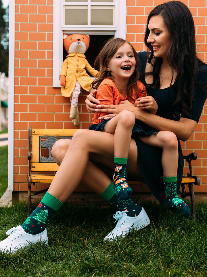 Obrázok produktu Vesele dječje čarape Crvena lisica