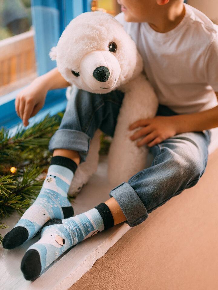 Foto Lustige Kindersocken Eisbär
