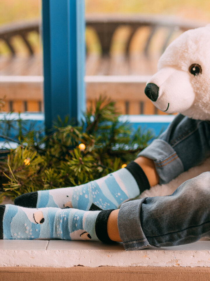 Looking for an original and unusual gift? The gifted person will surely surprise with Kids' Socks Polar Bear