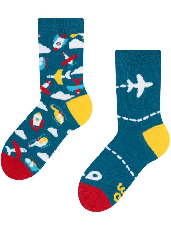 Lifestyle foto Živahne otroške nogavice Letala