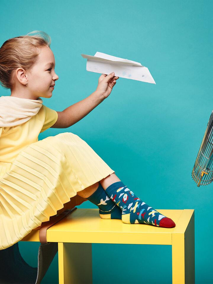 Obrázok produktu Živahne otroške nogavice Letala