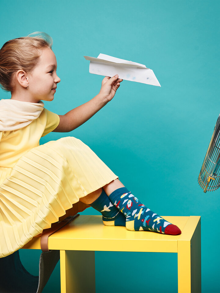 Obrázok produktu Chaussettes rigolotes pour enfantsAvions