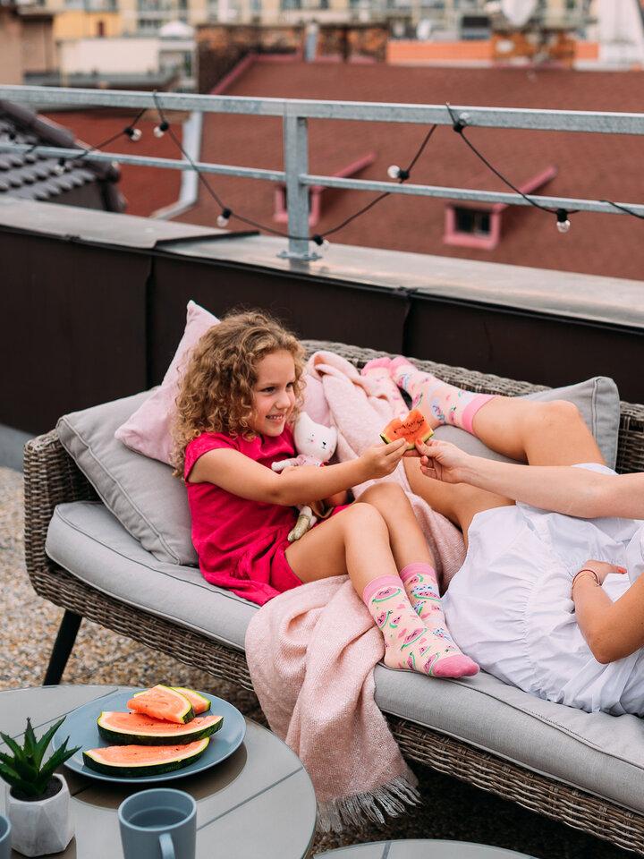 Zľava Kindersokken Watermeloen kat