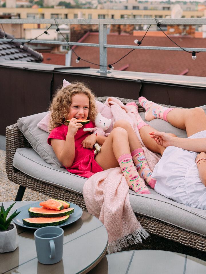 Pre dokonalý a originálny outfit Kids' Socks Watermelon Cat