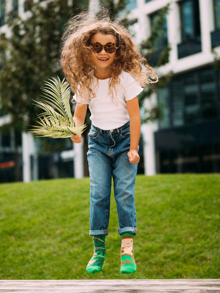 pro dokonalý a originální outfit Veselé dětské ponožky Opice