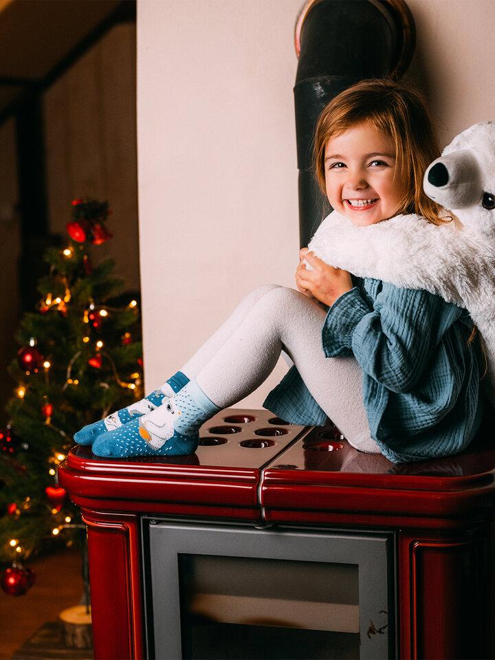 Pre dokonalý a originálny outfit Vesele dječje čarape Polarni medvjedi