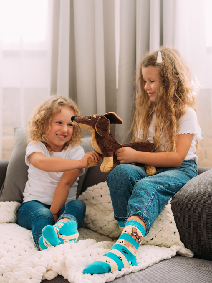 Sale Kids' Socks Dogs & Stripes