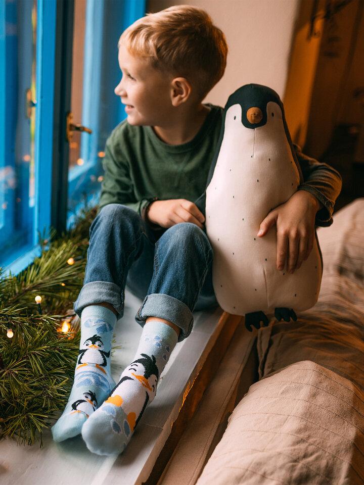 Výprodej Veselé dětské ponožky Šťastný tučňák