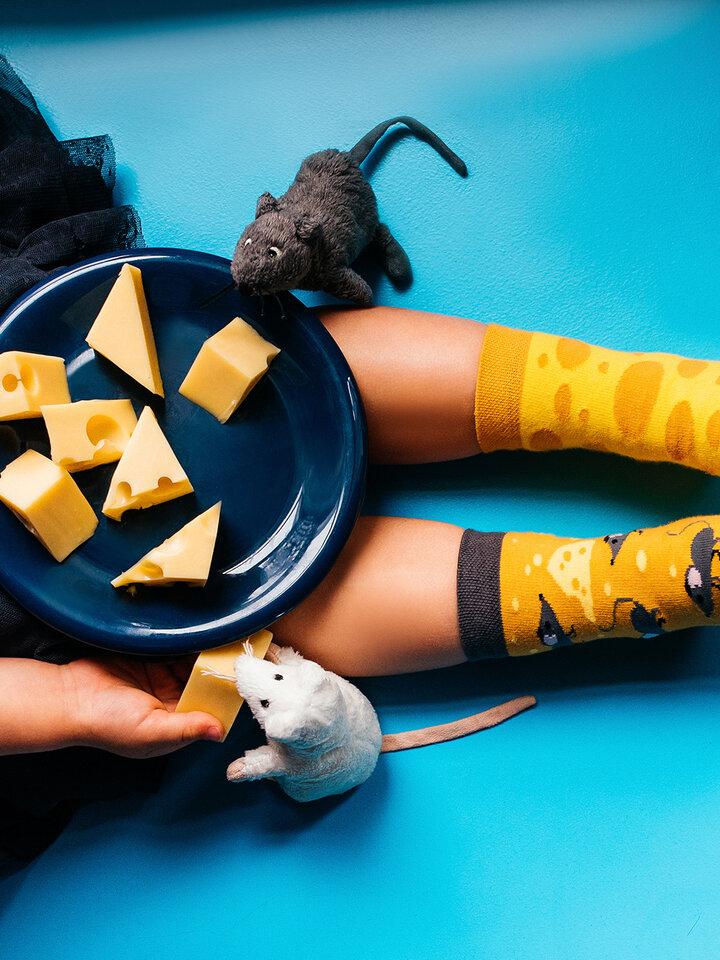 Bereiten Sie sich Freude mit diesem Dedoles-Stück Lustige Kindersocken Käse