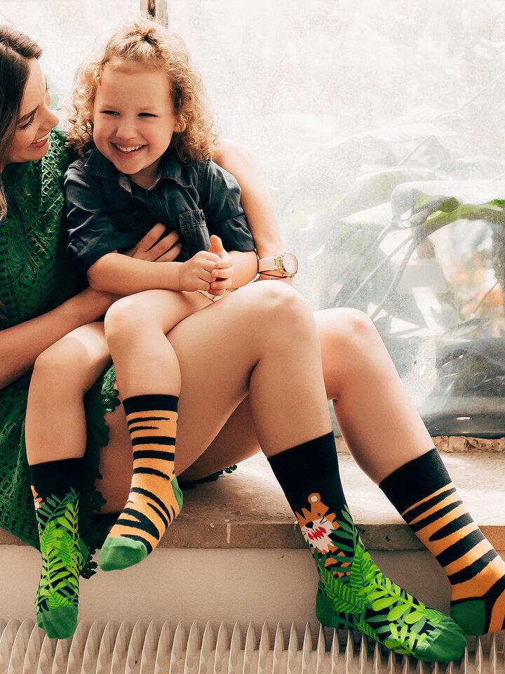 Potešte sa týmto kúskom Dedoles Chaussettes rigolotes pour enfants Tigre