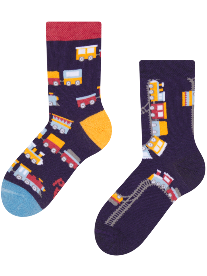 Pre dokonalý a originálny outfit Kid's Socks Trains