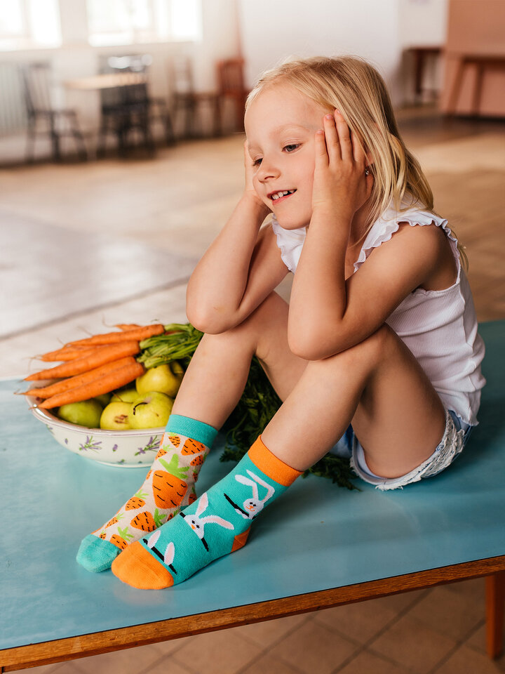 Sale Kids' Socks Carrot Rabbit