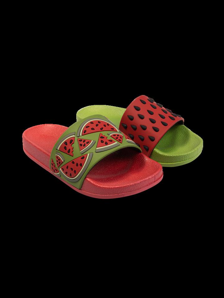 Výnimočný darček od Dedoles Veselé detské šľapky Červený melón