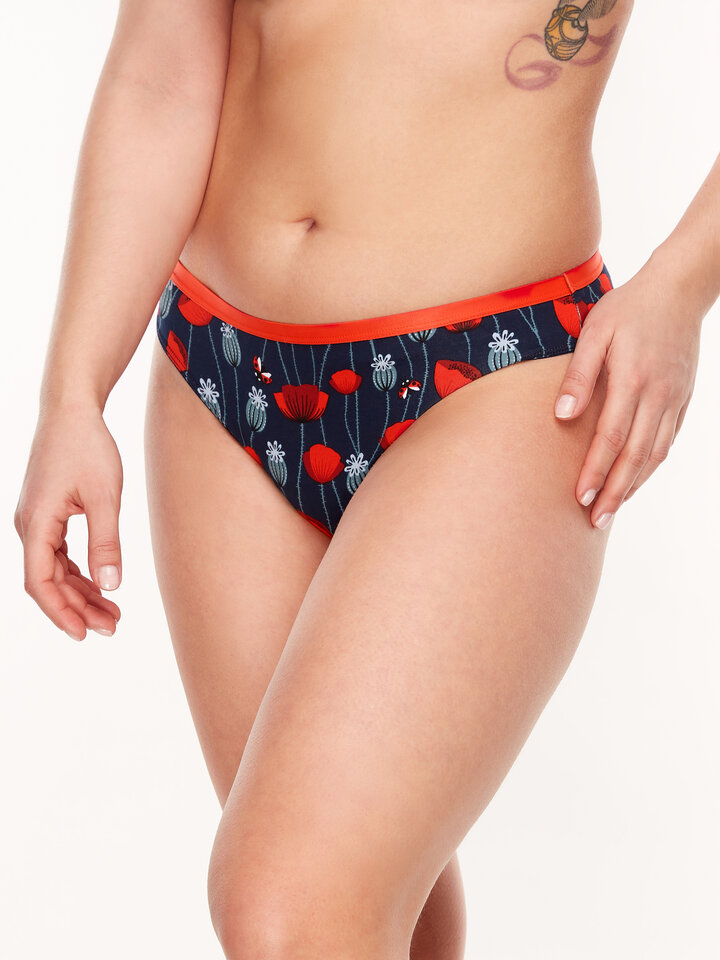 Lifestyle photo Women's Briefs Ladybugs & Poppy Flowers
