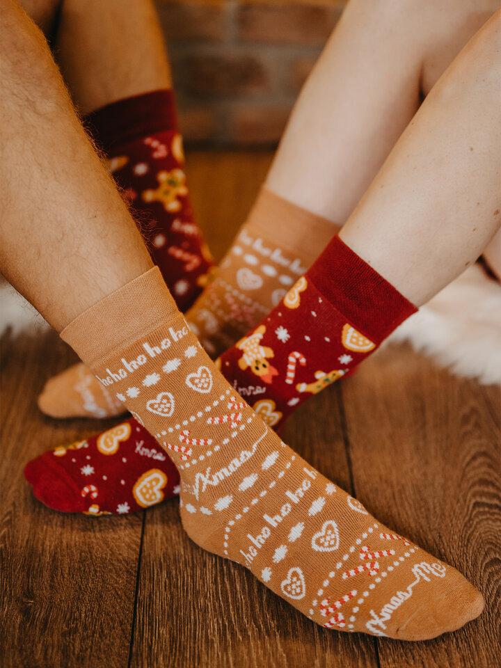 Lifestyle foto Vrolijke warme sokken Peperkoekwereld