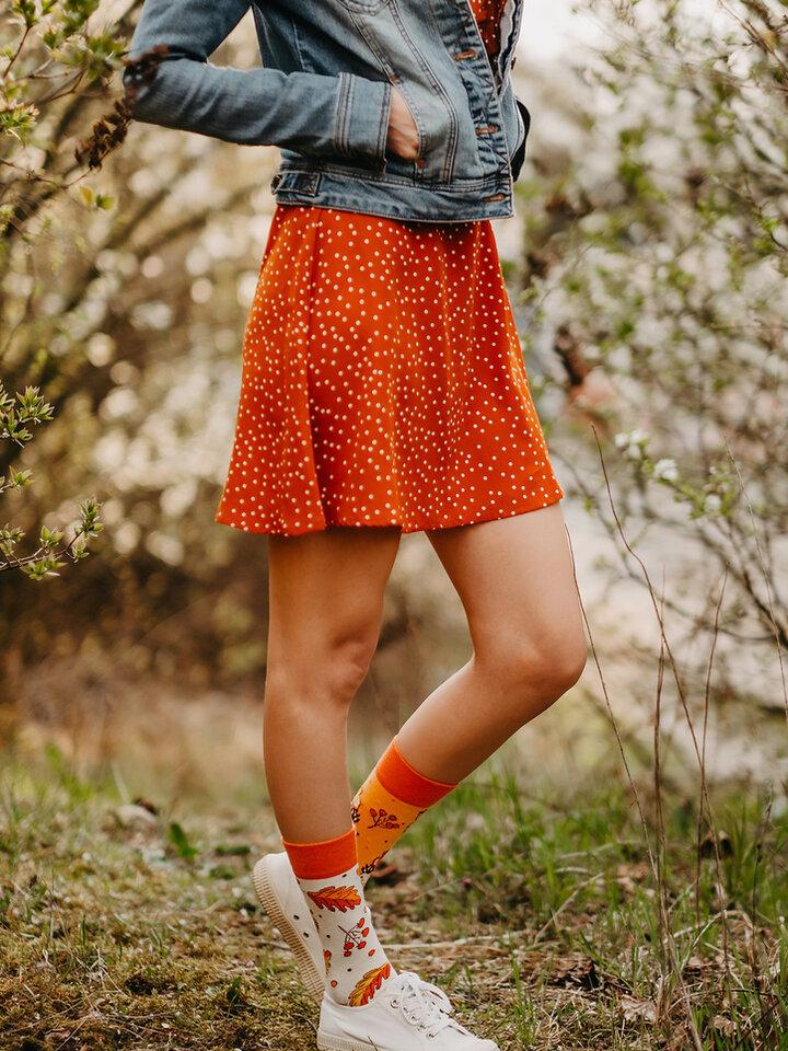 Potešte sa týmto kúskom Dedoles Good Mood Eco Friendly Socks Autumn Hedgehog