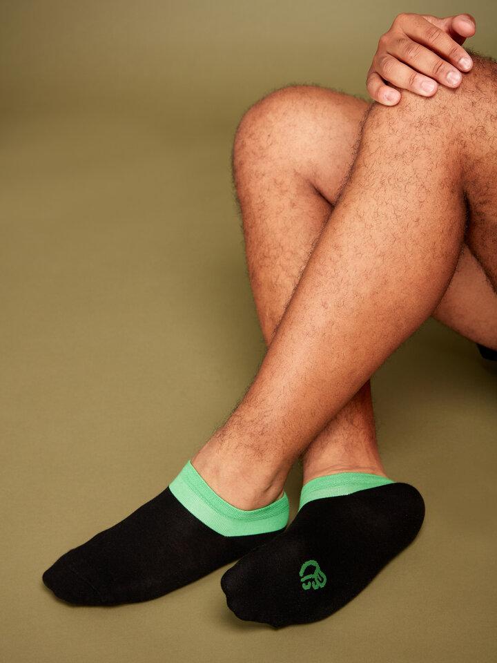 Výpredaj Črno-zelene kratke nogavice Simfonija