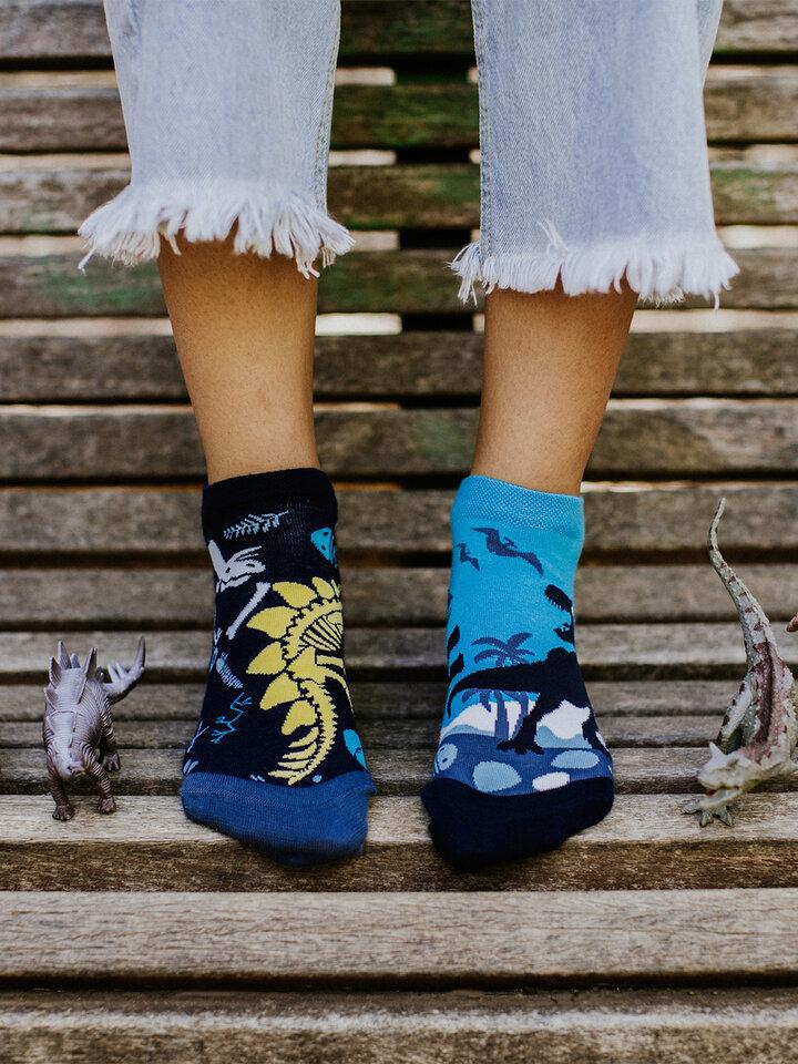für ein vollkommenes und originelles Outfit Lustige Knöchelsocken Dinosaurier