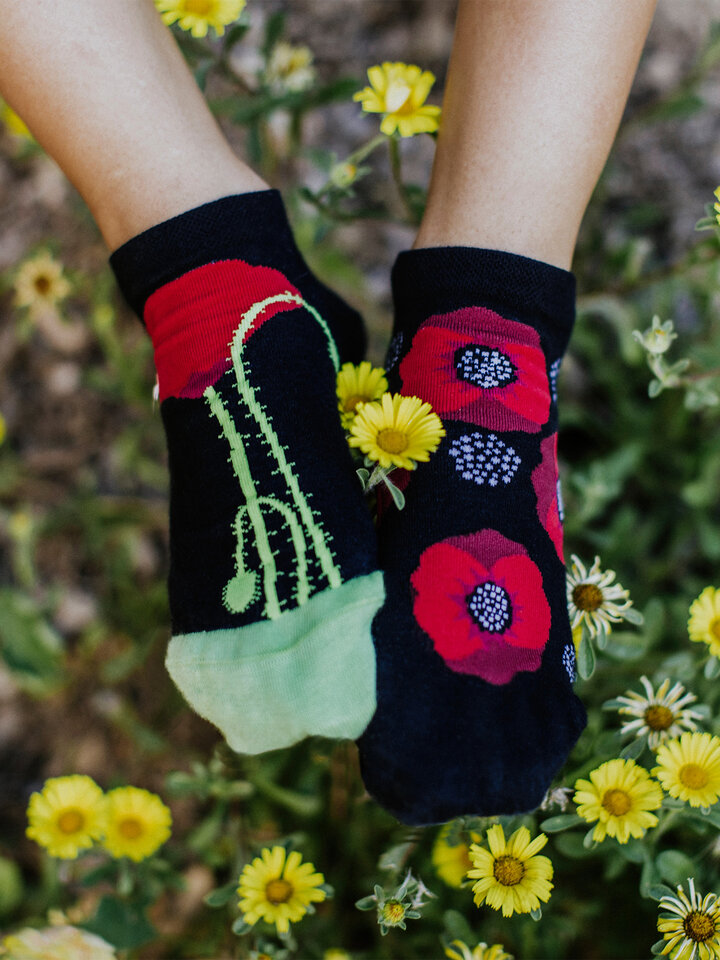Pre dokonalý a originálny outfit Ankle Socks Wild Poppies