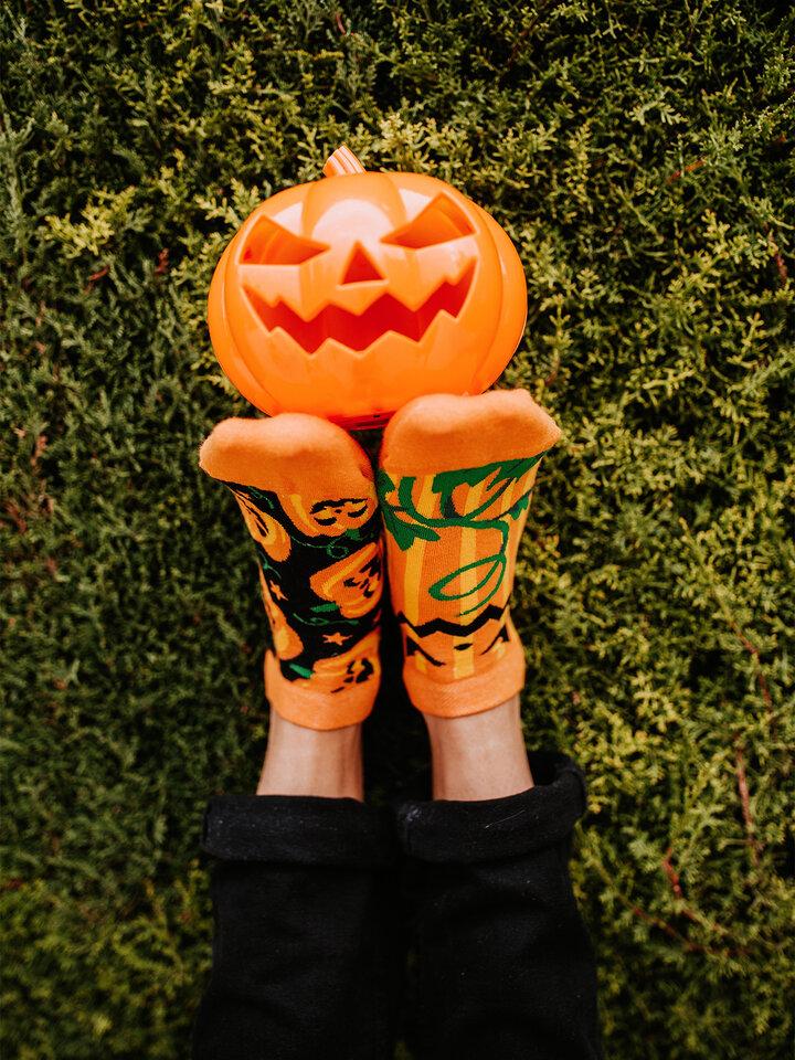Obrázok produktu Vrolijke enkelsokken Halloween pompoen