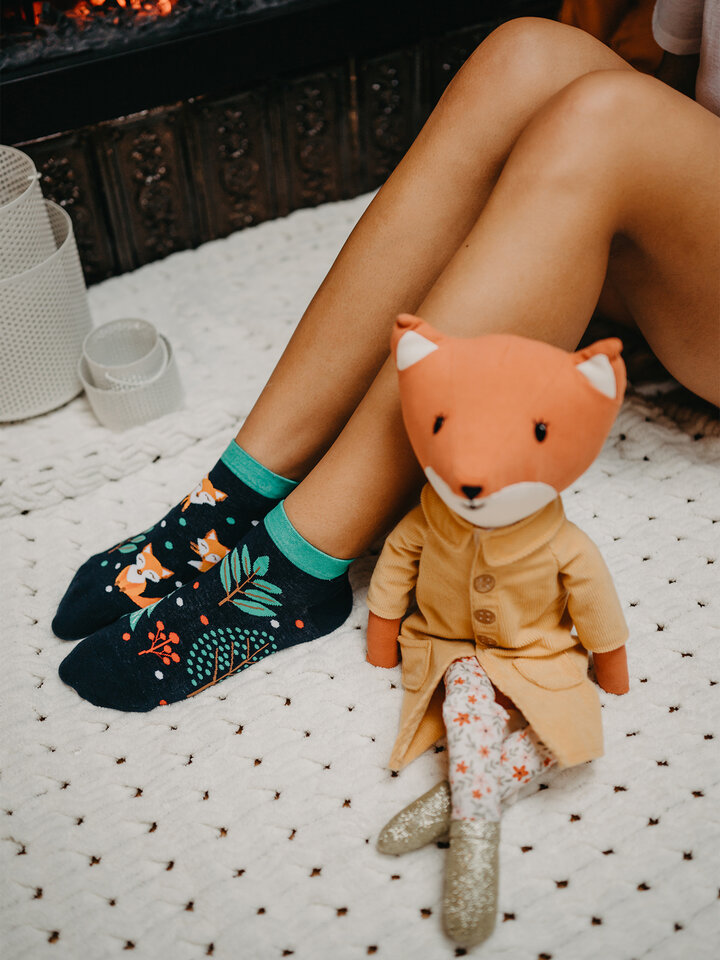 Sale Ankle Socks Red Fox