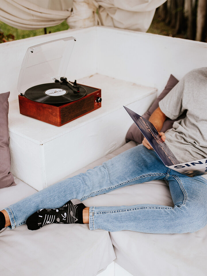 Lifestyle foto Vrolijke enkelsokken Muziek