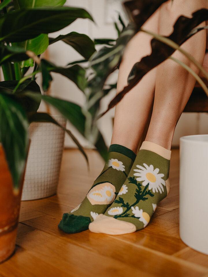 Zľava Členkové veselé ponožky Kamilkový čaj