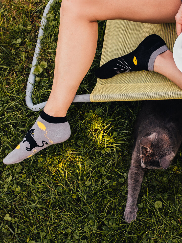 Sale Ankle Socks Cat Eyes