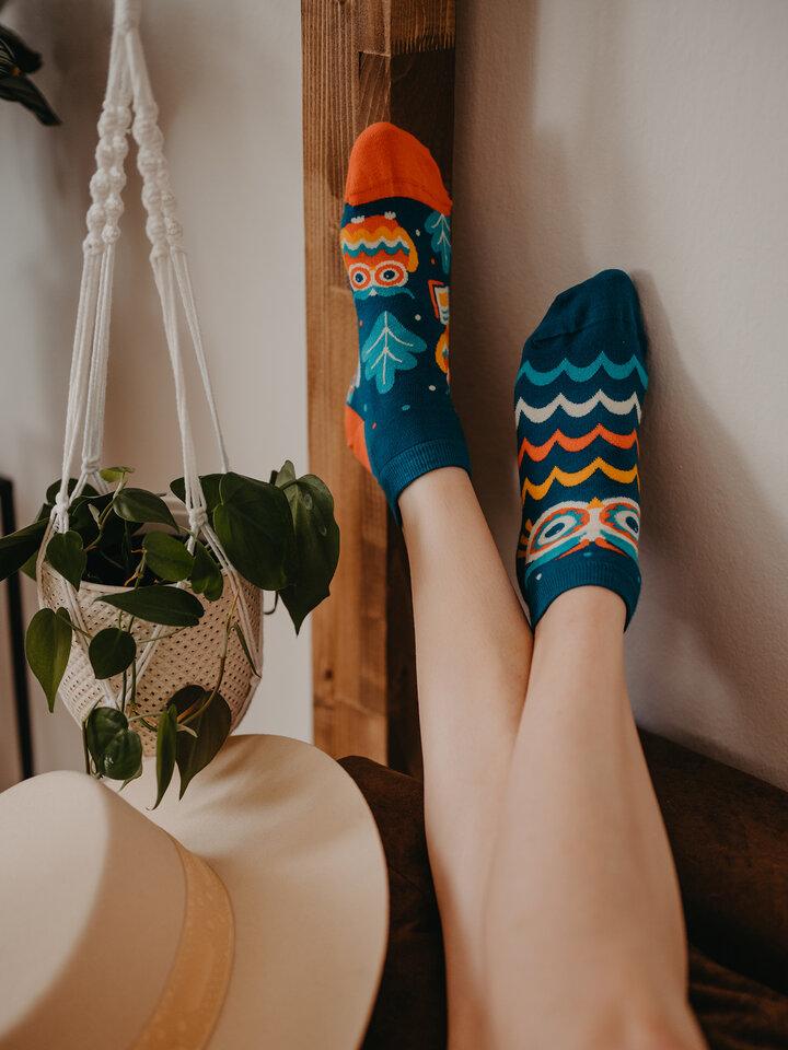 Zľava Členkové veselé ponožky Múdra sova