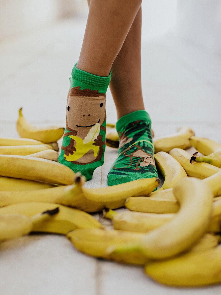 Foto Șosete Vesele sub Gleznă Maimuțe