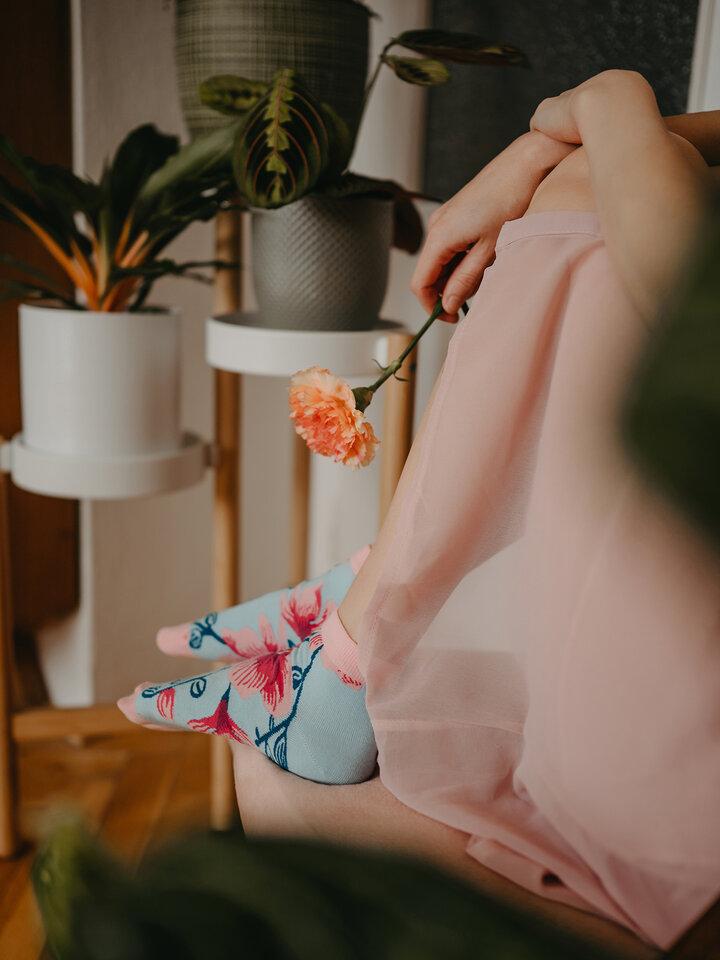 Tip na darček Členkové veselé ponožky Orchidea