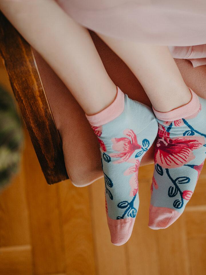 Obrázok produktu Členkové veselé ponožky Orchidea