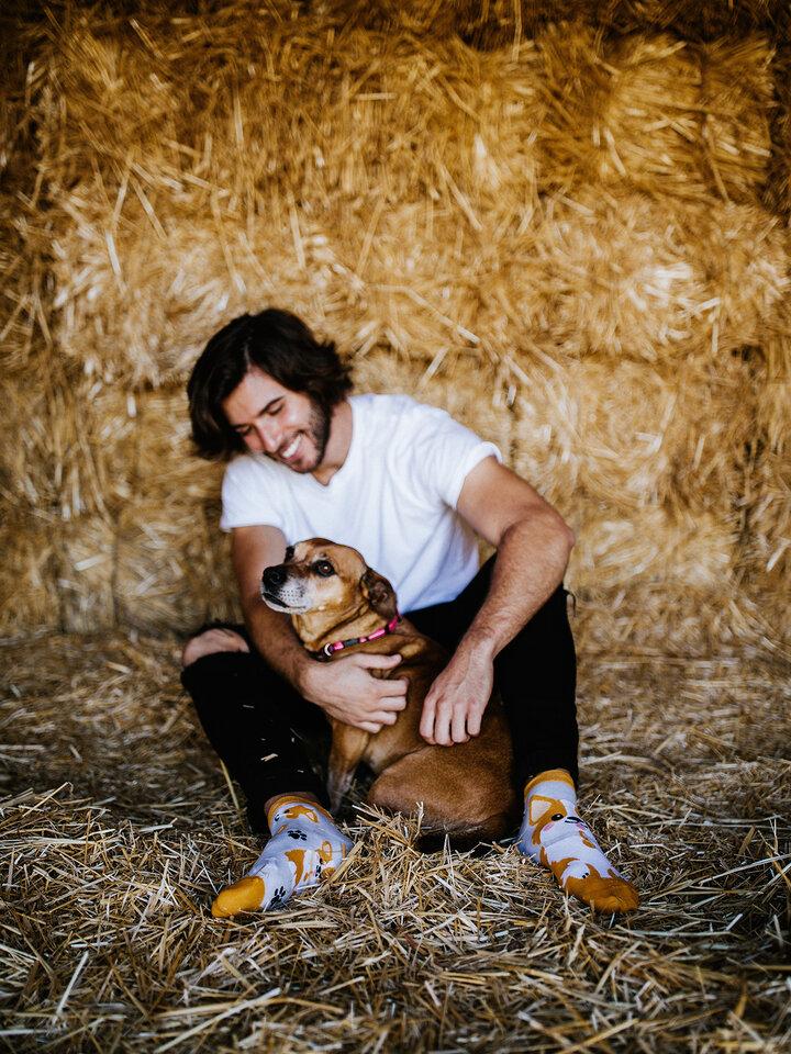 Foto Veselé kotníkové ponožky Pes Corgi