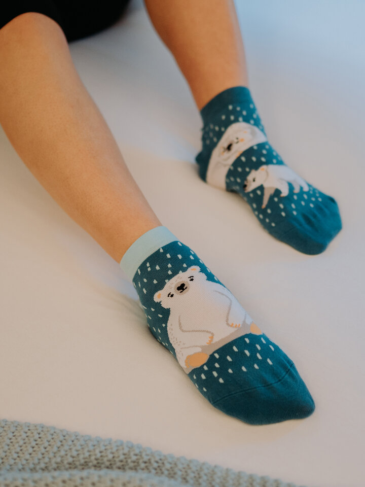 Lifestyle photo Ankle Socks Polar Bears