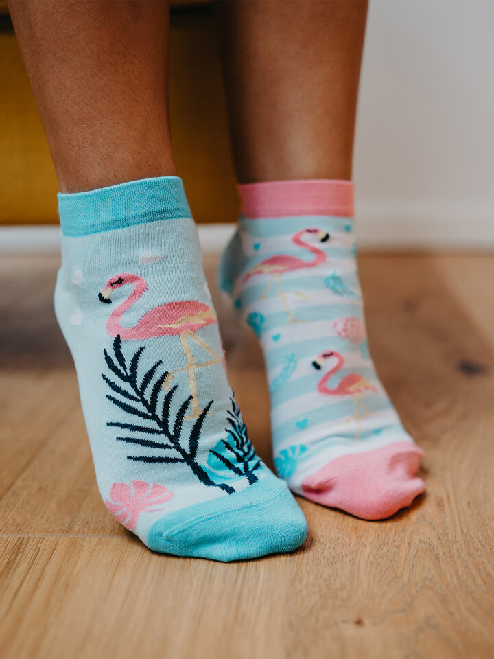 Gift idea Ankle Socks Love Flamingos